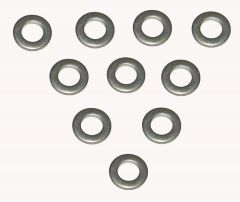 014-401 : 6MM STAINLESS - PACK OF 10  WASHER, FLAT