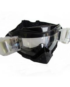 Goggles Adult Black W/Roll Offs