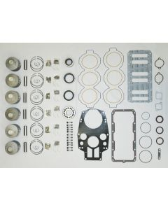 100-51-12 POWERHEAD REBUILD KIT : MERCURY / MARINER 200-300 HP XS DFI .020 OVER