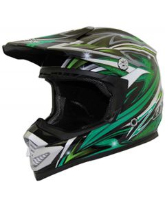 Helmet: Rush Fiction MX Green