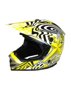 Helmet: Rush/Star MX Yellow