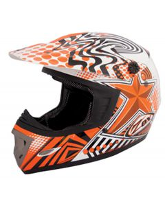 Helmet: Rush/Star MX Orange
