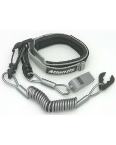 Pro Wrist Lanyard With Whistle Silver