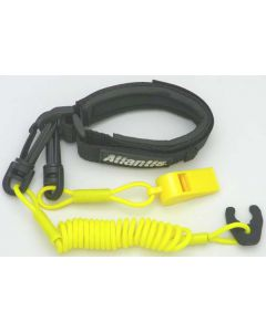 Pro Wrist Lanyard With Whistle Yellow