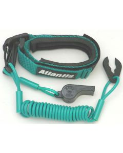 Pro Wrist Lanyard With Whistle Aqua