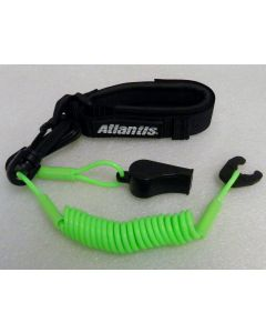 Pro Wrist Lanyard With Whistle Green