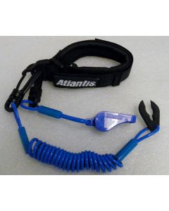 Pro Wrist Lanyard With Whistle Light Blue