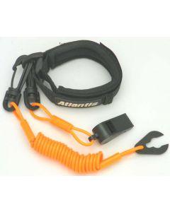 Pro Wrist Lanyard With Whistle Orange