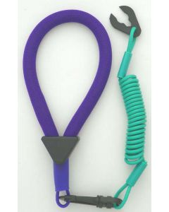A2139 : Wrist Lanyard, Purple / Teal