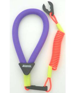 Wrist Lanyard, Purple / Neon Red