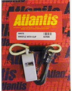 Whistle With Clip White