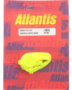 Whistle With Cord Neon Yellow