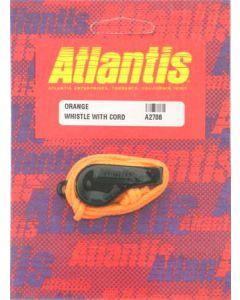 Whistle With Cord Orange