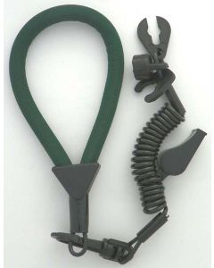 Wrist Lanyard, Multi End, Non Dess, Forest Green / Black