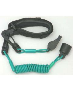Sea-Doo Pro Wrist Lanyard Dess With Whistle, Aqua
