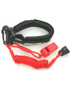 Sea-Doo Pro Wrsit Lanyard Non Dress With Whistle, Red