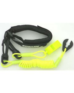 Yamaha Pro Wrist Lanyard With Whistle, Neon Yellow