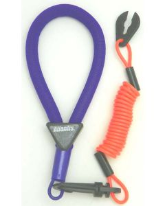 Yamaha Wrist Lanyard, Purple / Neon Red