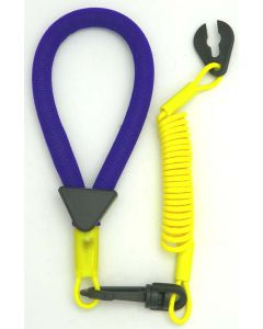 Yamaha Wrist Lanyard, Purple / Yellow