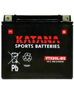 YTX20L-BS Katana Motorcycle Battery
