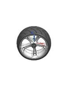 WW5 WIDE WHEEL SCOOTER FRONT WHEEL ASS'Y - SINGLE
